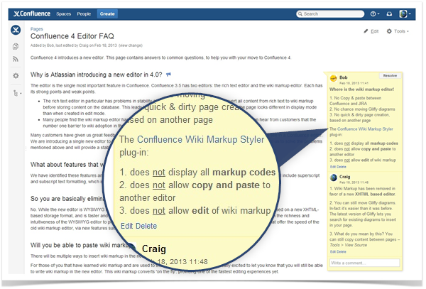 Talk Plugin Tips Do You Use Confluence Wiki Markup In Talk Comments