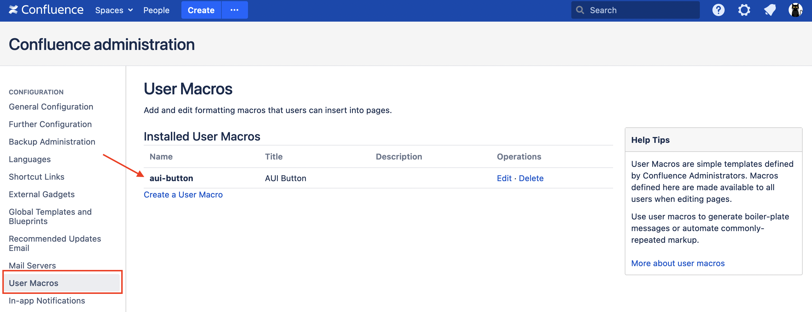 creating buttons in Confluence