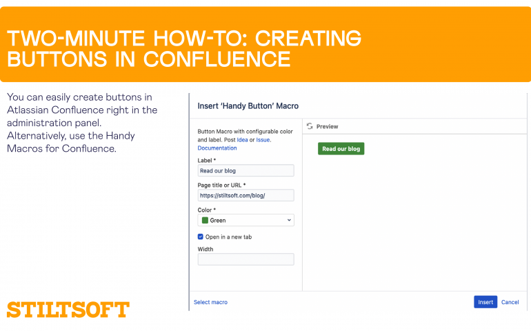 Two-Minute How-To: Creating Buttons in Confluence