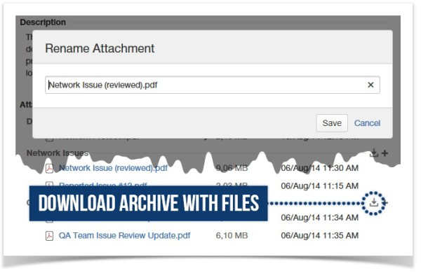 smart attachments - renaming and downloading attachments in jira