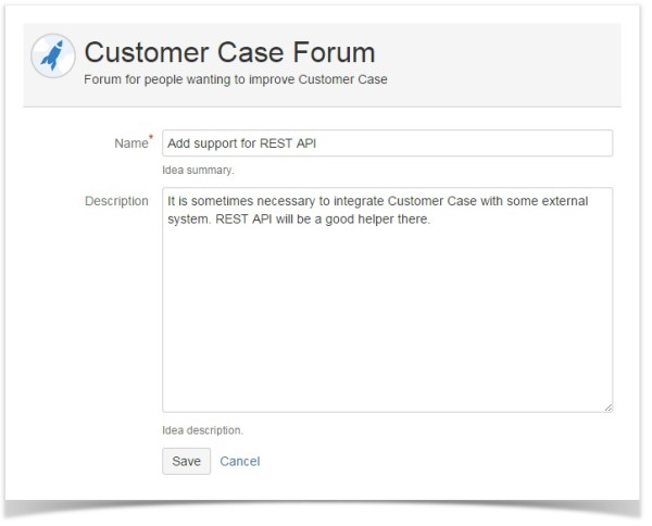 add idea customer case