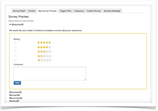 JIRA Service Desk Surveys