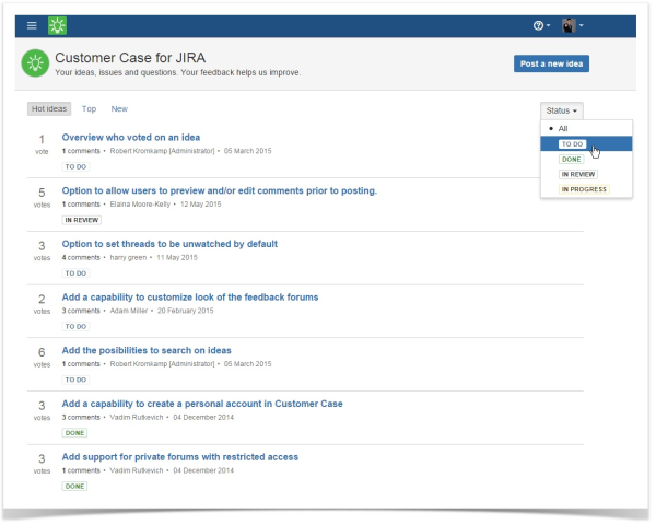 customer_case_jira_cloud_list_of_ideas_management