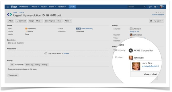 Relations for JIRA-Issue View