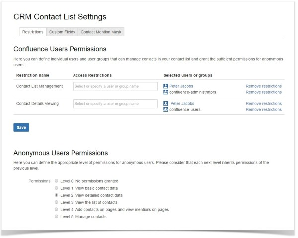 confluence-contact-list-crm-add-on-configuration