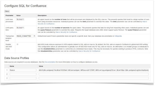 sql_configuration_in_confluence