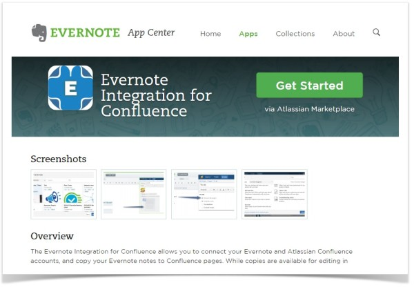 Evernote Inegration for Confluence - App Center