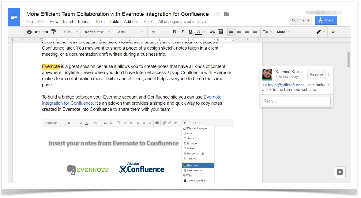 how to text while editing a document on google docs