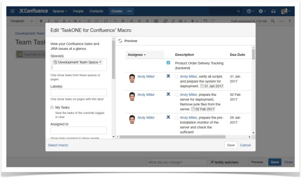 taskone_task_creation_in_confluence_from_jira_and_confluence