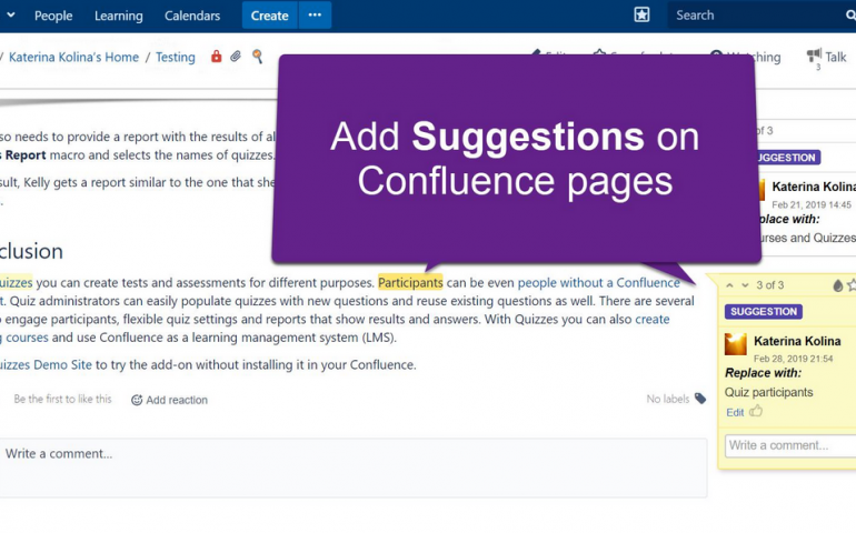 Confluence Inline Comments