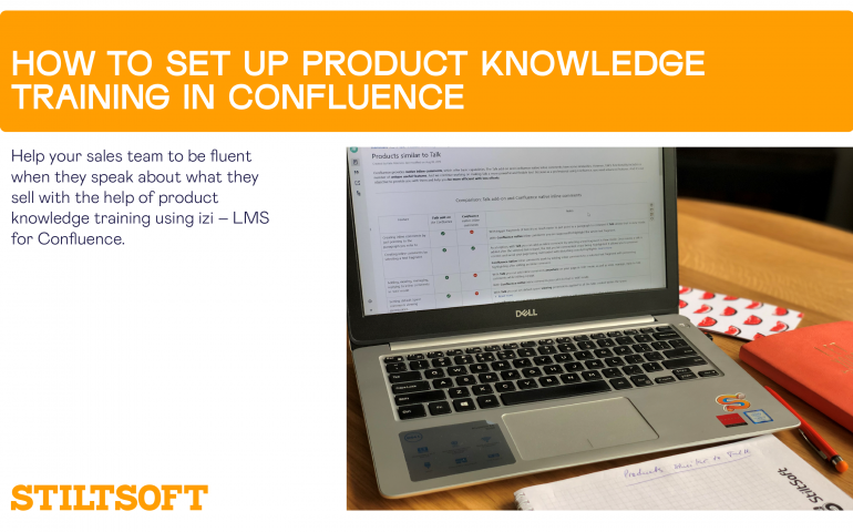 product knowledge training in Confluence