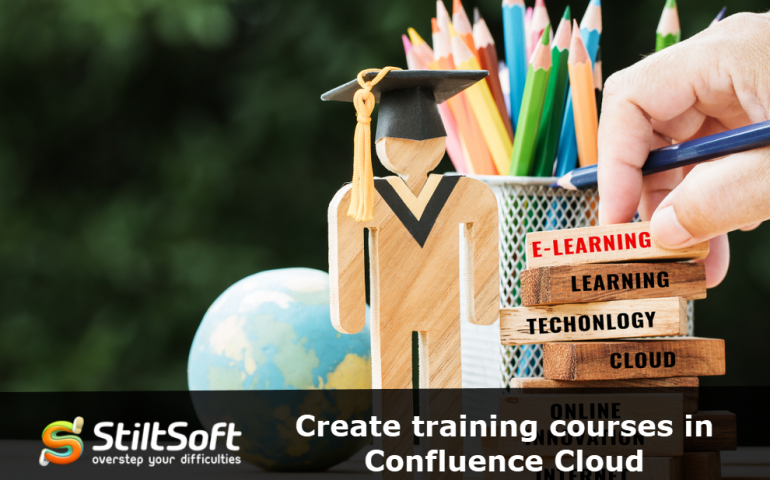 Create training courses in Confluence Cloud