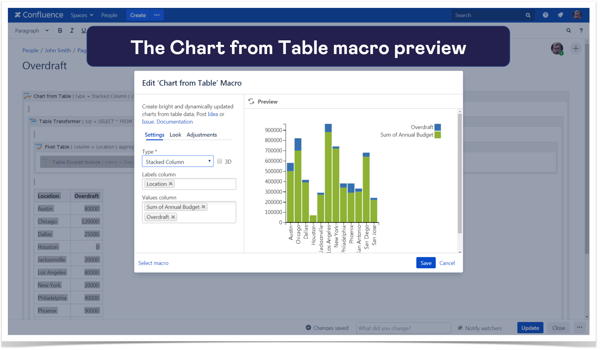 9. chart from table preview