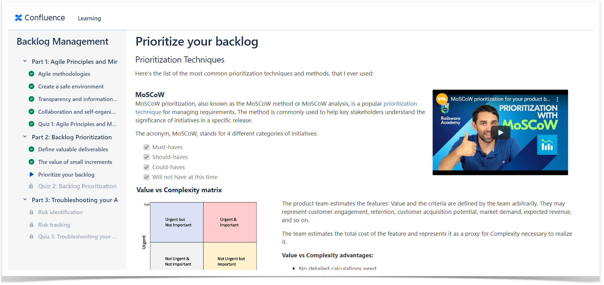 Engaging content in Confluence courses