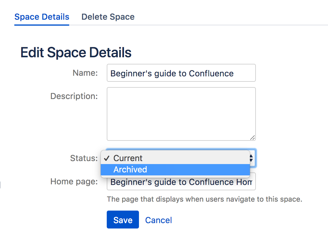 archive Confluence spaces you do not use